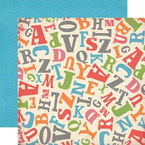 Carta Bella Paper - Alphabet Junction Collection - 12 x 12 Double Sided Paper - Tossed Letters
