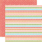 Carta Bella Paper - Alphabet Junction Collection - 12 x 12 Double Sided Paper - Simple Scallops