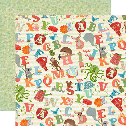 Carta Bella Paper - Alphabet Junction Collection - 12 x 12 Double Sided Paper - A Through Z