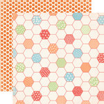 Carta Bella Paper - Alphabet Junction Collection - 12 x 12 Double Sided Paper - Honeycomb