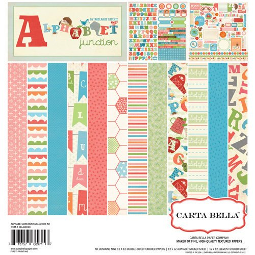 Carta Bella Paper - Alphabet Junction Collection - 12 x 12 Collection Kit