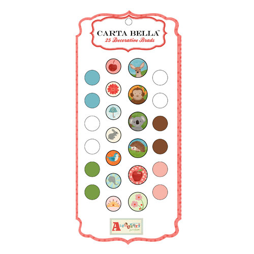 Carta Bella Paper - Alphabet Junction Collection - Brads