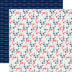 Carta Bella Paper - Ahoy There Collection - 12 x 12 Double Sided Paper - Anchors Away