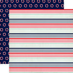Carta Bella Paper - Ahoy There Collection - 12 x 12 Double Sided Paper - Nautical Stripe