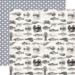 Carta Bella Paper - Ahoy There Collection - 12 x 12 Double Sided Paper - Sea Creatures