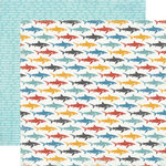 Carta Bella Paper - Beach Boardwalk Collection - 12 x 12 Double Sided Paper - Little Sharks