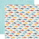 Carta Bella Paper - Beach Boardwalk Collection - 12 x 12 Double Sided Paper - Little Sharks