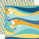 Carta Bella Paper - Beach Boardwalk Collection - 12 x 12 Double Sided Paper - Beach Waves