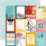 Carta Bella Paper - Beach Boardwalk Collection - 12 x 12 Double Sided Paper - Summer Cards