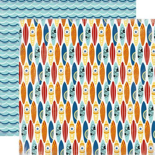Carta Bella Paper - Beach Boardwalk Collection - 12 x 12 Double Sided Paper - Surf Board