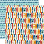 Carta Bella Paper - Beach Boardwalk Collection - 12 x 12 Double Sided Paper - Surf Board