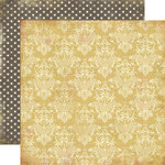 Carta Bella Paper - Beautiful Moments Collection - 12 x 12 Double Sided Paper - Damask
