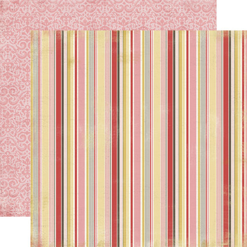 Carta Bella Paper - Beautiful Moments Collection - 12 x 12 Double Sided Paper - Stripes