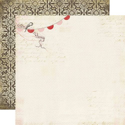Carta Bella Paper - Beautiful Moments Collection - 12 x 12 Double Sided Paper - Chickadee
