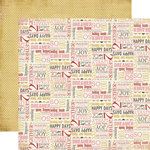 Carta Bella Paper - Beautiful Moments Collection - 12 x 12 Double Sided Paper - Happy Thoughts