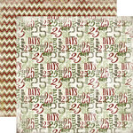 Carta Bella Paper - Christmas Day Collection - 12 x 12 Double Sided Paper - December 25th