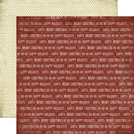 Carta Bella Paper - Christmas Day Collection - 12 x 12 Double Sided Paper - Merry Christmas