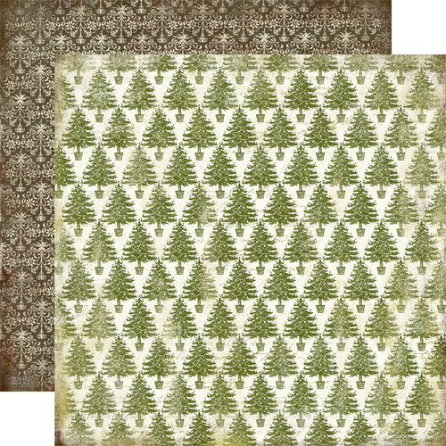 Carta Bella Paper - Christmas Day Collection - 12 x 12 Double Sided Paper - Ever Green