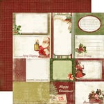 Carta Bella Paper - Christmas Day Collection - 12 x 12 Double Sided Paper - Christmas Cards