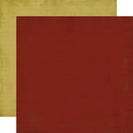 Carta Bella Paper - Christmas Day Collection - 12 x 12 Double Sided Paper - Crimson
