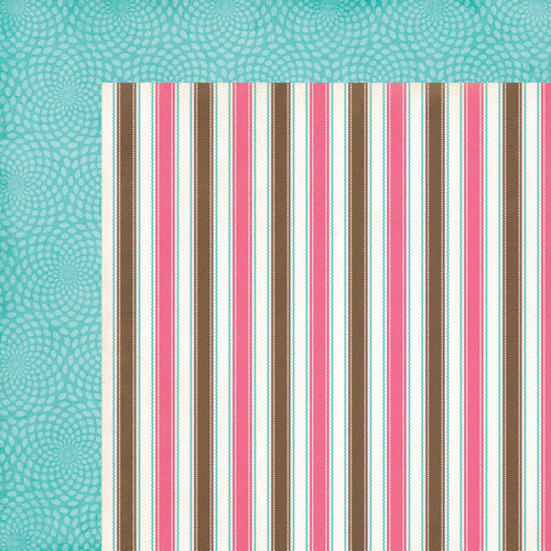 Carta Bella Paper - Cool Summer Collection - 12 x 12 Double Sided Paper - Neapolitan Stripe