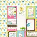 Carta Bella Paper - Cool Summer Collection - 12 x 12 Double Sided Paper - Summer Season Cards