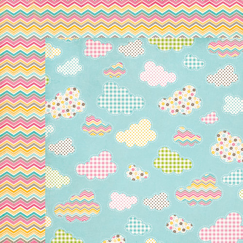 Carta Bella Paper - Cool Summer Collection - 12 x 12 Double Sided Paper - Midsummer Sky