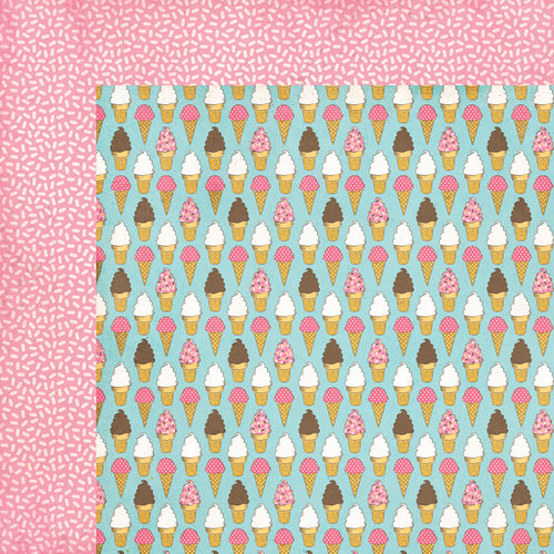 Carta Bella Paper - Cool Summer Collection - 12 x 12 Double Sided Paper - One Scoop