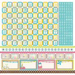 Carta Bella Paper - Cool Summer Collection - 12 x 12 Cardstock Stickers - Alphabet