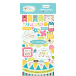 Carta Bella Paper - Cool Summer Collection - Chipboard Stickers