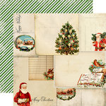 Carta Bella Paper - Christmas Time Collection - 12 x 12 Double Sided Paper - Christmas Cards