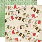 Carta Bella Paper - Christmas Time Collection - 12 x 12 Double Sided Paper - Holiday Banners