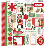 Carta Bella Paper - Christmas Time Collection - 12 x 12 Cardstock Stickers - Elements