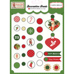 Carta Bella Paper - Christmas Time Collection - Decorative Brads
