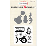 Carta Bella Paper - All Bundled Up Collection - Christmas - Designer Die and Clear Acrylic Stamp Set - Cold Outside