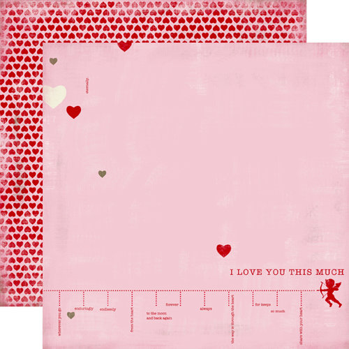 Carta Bella Paper - Devoted Collection - 12 x 12 Double Sided Paper - I Love You This Much