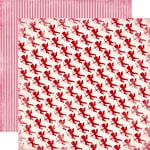 Carta Bella Paper - Devoted Collection - 12 x 12 Double Sided Paper - Cupid's Arrow