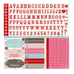 Carta Bella Paper - Devoted Collection - 12 x 12 Cardstock Stickers - Alphabet