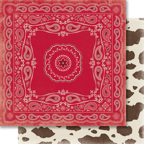 Carta Bella Paper - Samantha Walker - Giddy Up Collection - Boy - 12 x 12 Double Sided Paper - Bandana