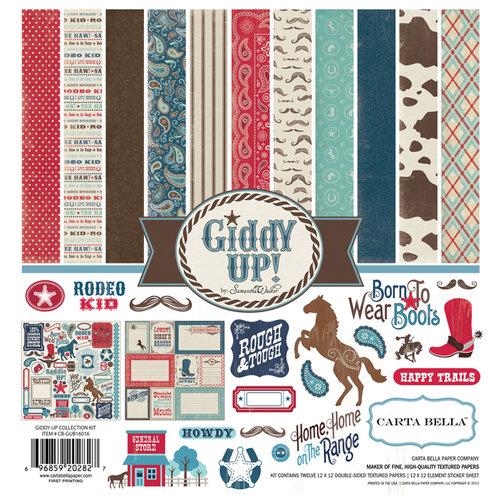 Carta Bella Paper - Samantha Walker - Giddy Up Collection - Boy - 12 x 12 Collection Kit