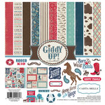 Carta Bella Paper - Samantha Walker - Giddy Up Collection - Boy - 12 x 12 Collection Kit