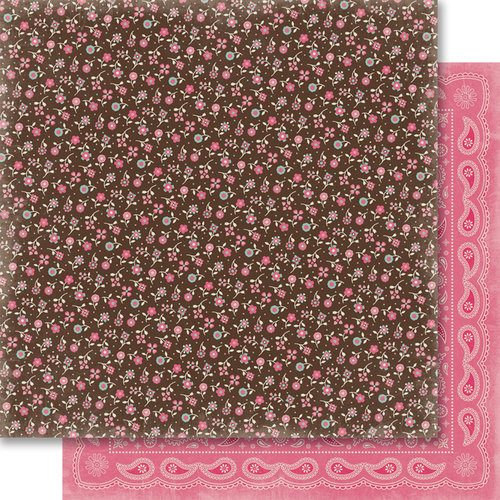 Carta Bella Paper - Samantha Walker - Giddy Up Collection - Girl - 12 x 12 Double Sided Paper - Calico