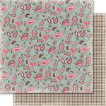 Carta Bella Paper - Samantha Walker - Giddy Up Collection - Girl - 12 x 12 Double Sided Paper - Pretty Paisley
