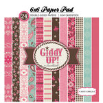 Carta Bella Paper - Samantha Walker - Giddy Up Collection - Girl - 6 x 6 Paper Pad