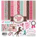 Carta Bella Paper - Samantha Walker - Giddy Up Collection - Girl - 12 x 12 Collection Kit