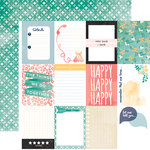 Carta Bella Paper - Hello Again Collection - 12 x 12 Double Sided Paper - Journaling Cards
