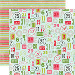 Carta Bella Paper - Merry and Bright Collection - Christmas - 12 x 12 Double Sided Paper - Christmas Countdown