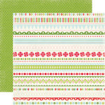 Carta Bella Paper - Merry and Bright Collection - Christmas - 12 x 12 Double Sided Paper - Merry Borders