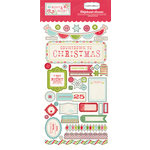 Carta Bella Paper - Merry and Bright Collection - Christmas - Chipboard Stickers