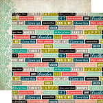 Carta Bella Paper - Moments and Memories Collection - 12 x 12 Double Sided Paper - Family Words